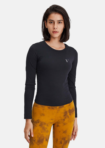 Energy Flow Long Sleeve Top Black