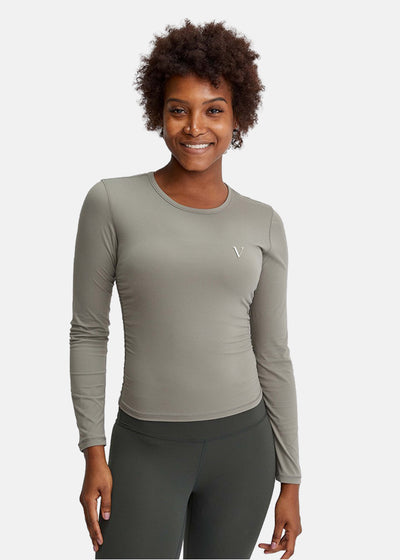 Energy Flow Long Sleeve Top Sand Green