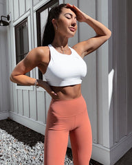 Rise To The Top Sports Bra White