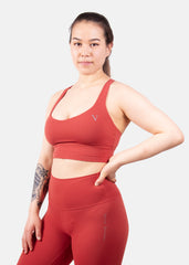 Ultra Flex Sports Bra Fire Red
