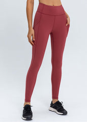Hyper Flow Pocket Leggings Ruby Red