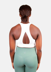 Hyper Support Sports Bra White