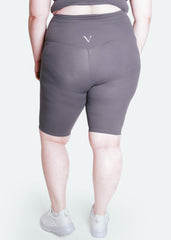 Ultra Flex Seamless Biker Shorts Fossil Grey