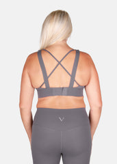 Hyper Boost Sports Bra Ash Grey