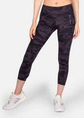 Work Hard 7/8 Pocket Leggings Black Camo