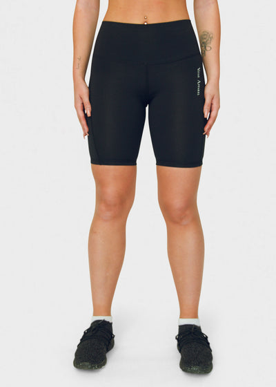Seamless Biker Shorts Black - VITAE APPAREL