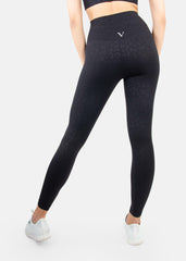 Ultra Flex Seamless Leggings Black Leopard