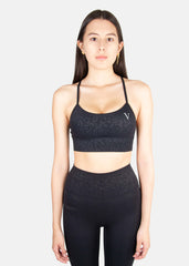 Ultra Flow Sports Bra Black Leopard