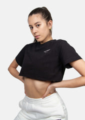 Down To Business Cropped Tee Black