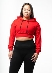 Ultimate Cropped Hoodie Red