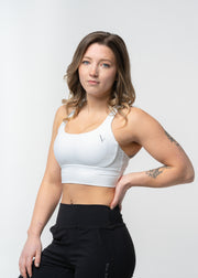 Get Ribbed Sports Bra White