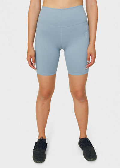 Seamless Biker Shorts Baby Blue - VITAE APPAREL