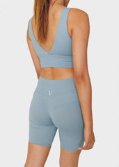 Seamless Yoga Sports Bra Baby Blue - VITAE APPAREL