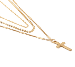 Bella Cross layered Necklace
