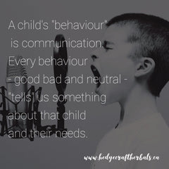 A child's behaviour is communication. Every behaviour - good bad and neutral - tells us something about that child and their needs
