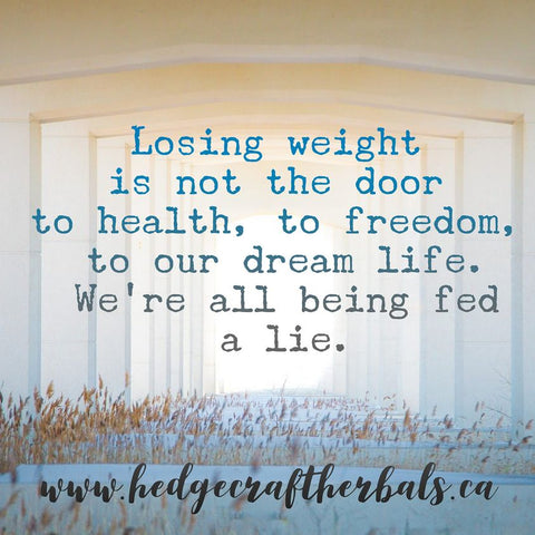 losing weight is not the door to health, to freedom, to our dream life. We're all being fed a lie.