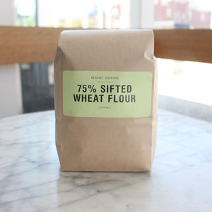 Maine Grains 75% Sifted Whole Wheat Flour (2lb bag)