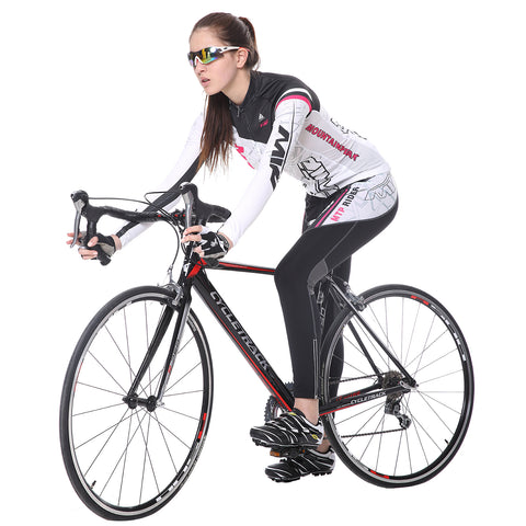 white cycling suit