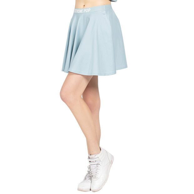 Versatile Stretchy Flared Jersey Skirt