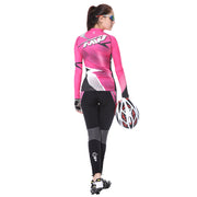 Back side - Women cycling suit in Rose colour
