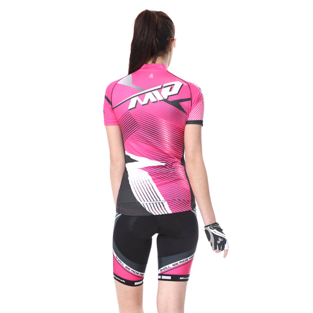 Extreme Pop Womens Cycling Suits 4D Padded Shorts Summer Short Sleeve Riding Jersey Top