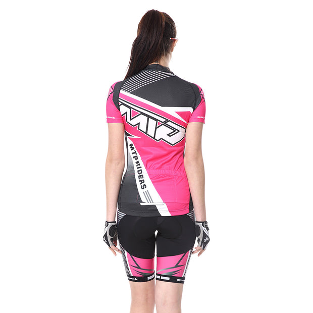 Womens Cycling Jersey Suits Short Sleeve + 3D Padded Shorts Bicycle Clothing