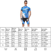 Extreme Pop Mens Short Sleeve Cycling Suits Padded Riding Shorts Quick Dry Biking Jersey
