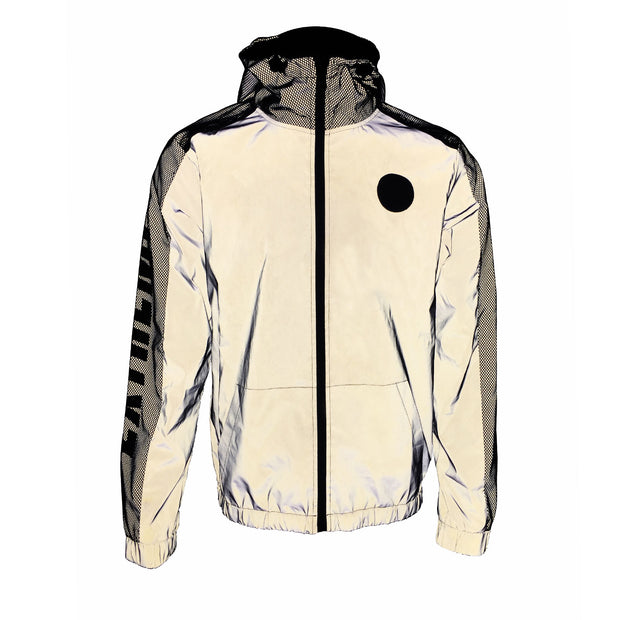 Reflective Fabric Contrast Jacket
