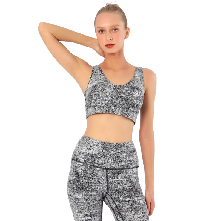 Womens Yoga Set High Waist Gym Leggings & Sports Bra 2pcs Suits