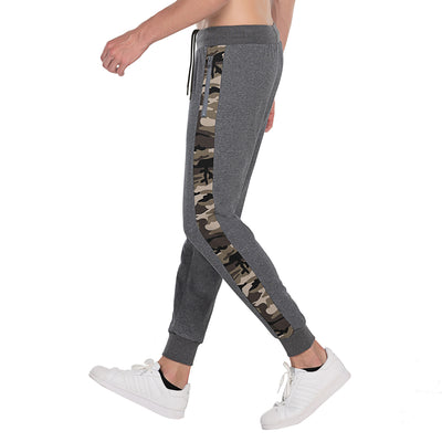Mens Joggers Sport Camo Sweatpants size S M L XL CHARCOAL BLACK