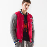 Hooded Zip-up Padded Baseball Jacket
