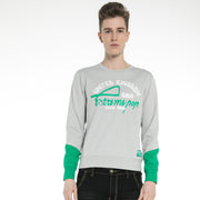 Men's Cotton Stretch Sweatshirt  S M L XL XXL Grey