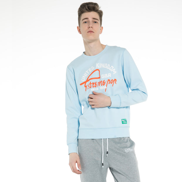 Men's stretch Sweatshirt S M L XL XXL Light Blue