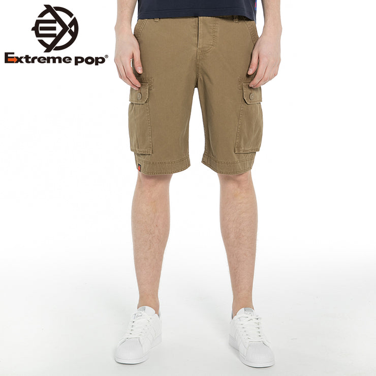 Mens Cargo Combat Chino Shorts Cotton Half Pants Casual Summer Stone Washed Jeans