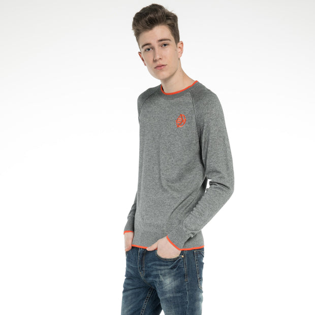 Woolen Crew Neck Raglan Sweater for men
