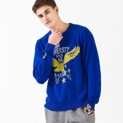Jacquard Knit Eagle Sweater