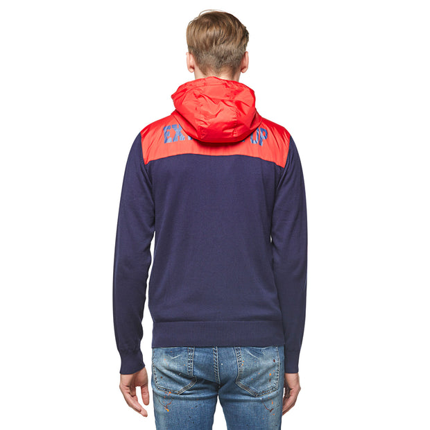 Knitwear With Woven  Zip-Up Hoodie