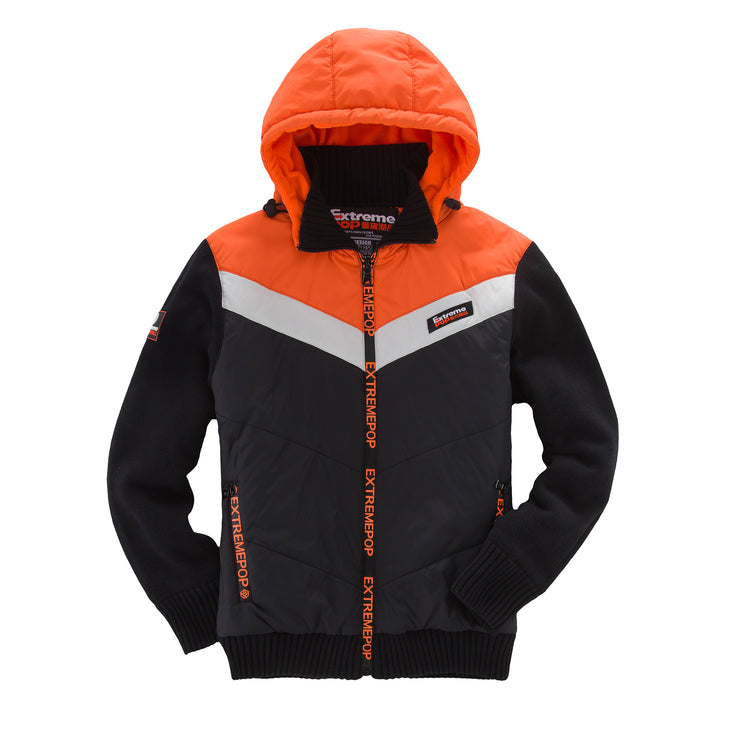 Knitted and Woven Padded Jacket