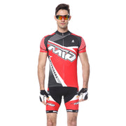 Mens Cycling Sets Short Sleeve Riding Clothing Quick Dry Padded Shorts