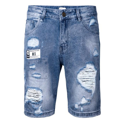 Mens Ripped Distressed Jeans Summer Shorts Summer Beach Shorts