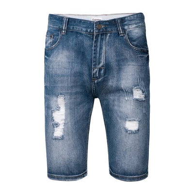 Mens Ripped Distressed Jeans Summer Stretch Shorts RRP £30 Summer Beach Shorts