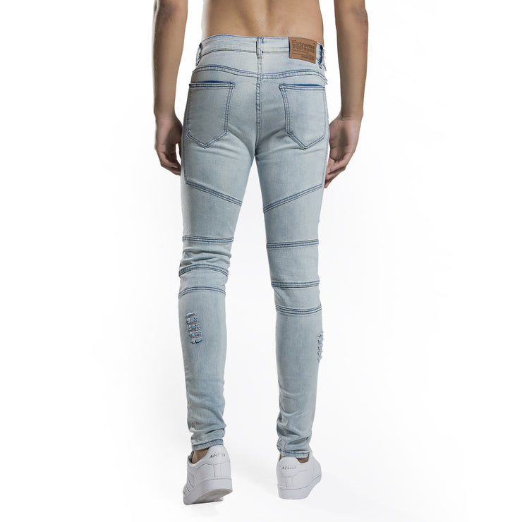 Men's Skinny Super Stretch Fit Ripped Jeans