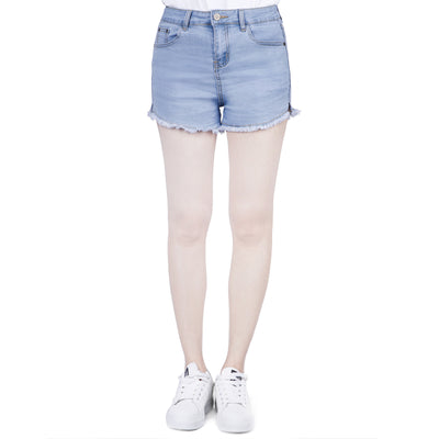UK Womens High Waisted Shorts Jeans Ripped Stretch Denim Shorts Jeans HotPants