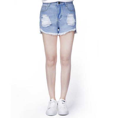 Womens High Waisted Shorts Jeans Ripped Denim Distressed Jeans HotPants