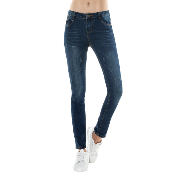 Skinny Distressed Blue Jeans