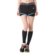 Womens Running Shorts 2 in 1 Double Layer Quick Dry Yoga Pants Fake Two Tights
