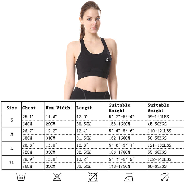 Womens Sports Bra Wireless Cross Back Yoga Tank Top