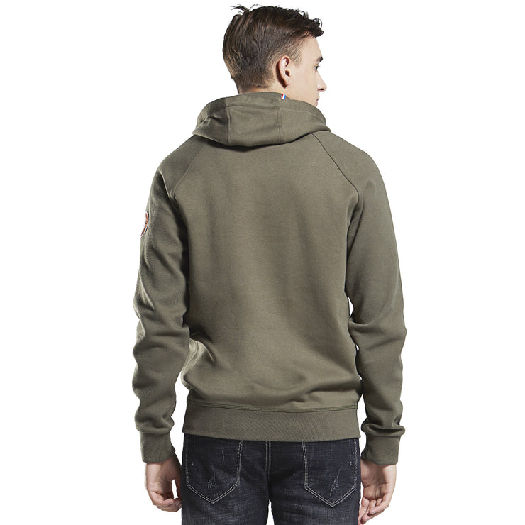 Twill Knit French Terry Hoodie Sweatshirt