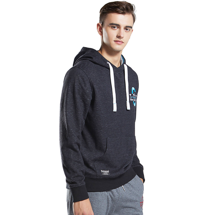 Mens Hoodie Sweatshirt Heather Slub Cotton Hooded Sweater Jumper Pullover Tops