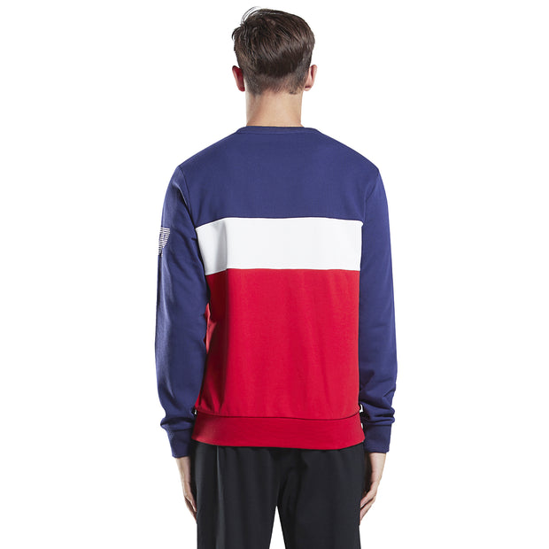 Men's Sweatshirt Contrast Colors stripe red grey size S M L XL